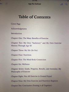 """Age Re-Defined"" Table of Contents"